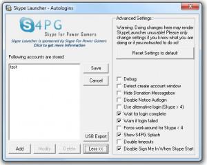 Skype Launcher - náhled