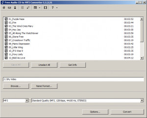 Free Audio CD To MP3 Converter - náhled