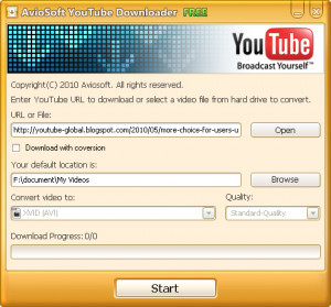 Aviosoft YouTube Downloader - náhled