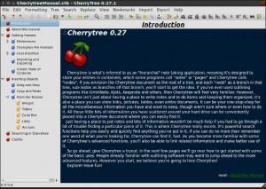Cherrytree - náhled