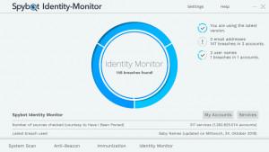 Spybot Identity Monitor - náhled