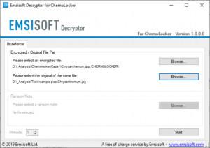 Emsisoft Decryptor for ChernoLocker - náhled