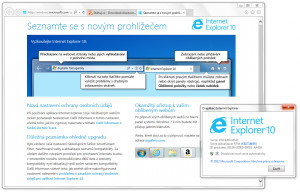 Internet Explorer - náhled
