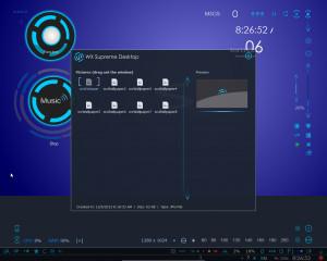 WX Supreme Desktop - náhled