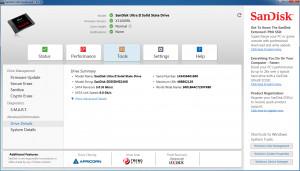 SanDisk SSD Dashboard - náhled