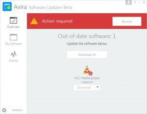 Avira Software Updater - náhled