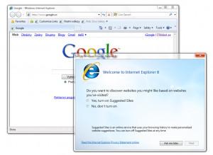 Internet Explorer 8 - náhled