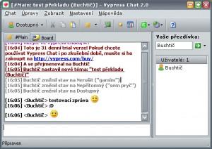 Čeština do Vypress Chat - náhled