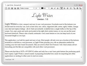 Light Writer - náhled