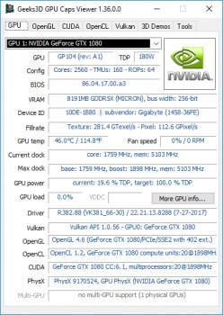 GPU Caps Viewer - náhled