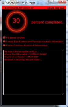 Check Disk GUI - náhled