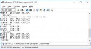 Advanced TCP/IP Data Logger - náhled