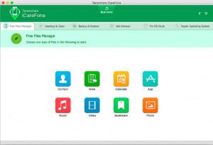 Tenorshare iCareFone - náhled
