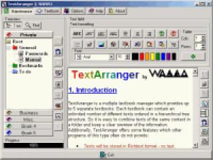 TextArranger - náhled