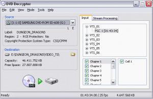 DVD Decrypter - náhled
