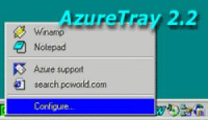 AzureTray - náhled