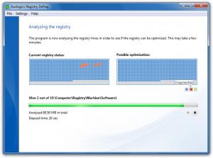 Auslogics Registry Defrag - náhled