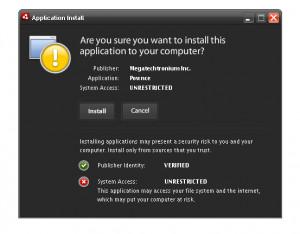 Adobe AIR - náhled