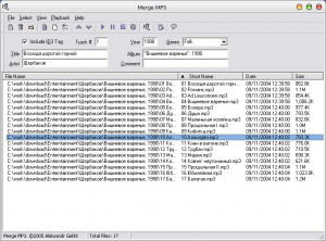 Merge MP3 - náhled