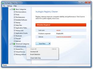 Auslogics Registry Cleaner - náhled