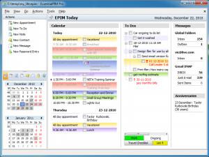 EssentialPIM Free Edition - náhled