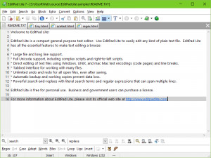 EditPad Lite - náhled