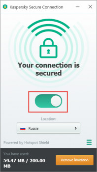 Kaspersky Secure Connection - náhled