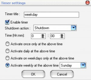 PC Auto Shutdown - náhled