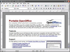 OpenOffice.org Portable - náhled
