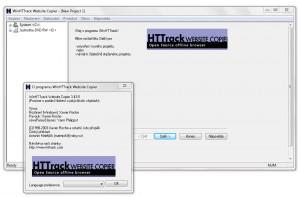 HTTrack Website Copier - náhled