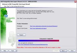 EMS PostgreSQL Data Export - náhled