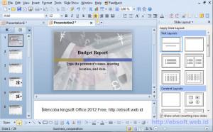 Kingsoft Presentation - náhled