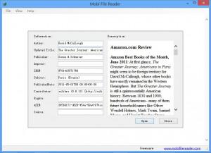 Mobi File Reader - náhled