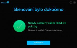 F-Secure Online Scanner - náhled