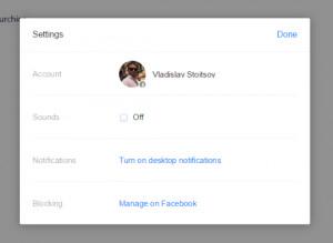 Facebook Desktop Messenger - náhled