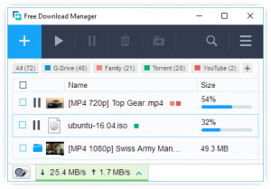 Free Download Manager - náhled