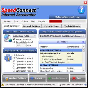 SpeedConnect Internet Accelerator - náhled