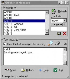 Quick Net Message - náhled