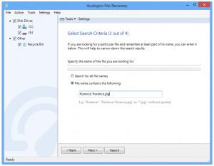 Auslogics File Recovery - náhled