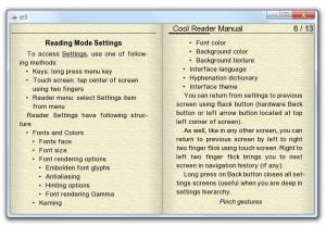 Cool Reader - náhled