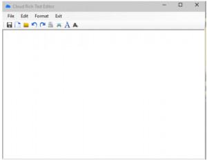 Cloud Rich Text Editor - náhled