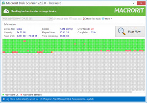 Macrorit Disk Scanner - náhled