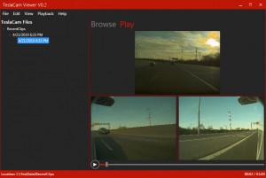 TeslaCam Viewer - náhled