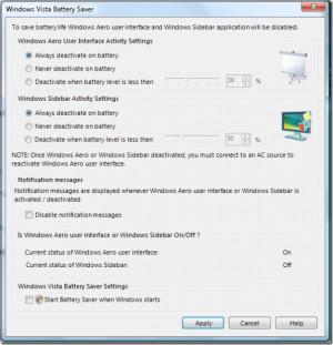 Vista Battery Saver - náhled