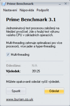 Prime Benchmark - náhled