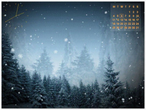 Animated SnowFlakes Screensaver - náhled