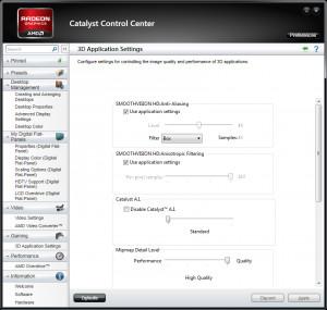 AMD Catalyst - náhled