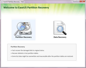 EASEUS Partition Recovery - náhled