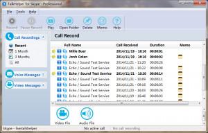 TalkHelper Free Skype Recorder - náhled