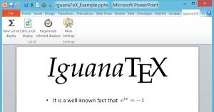 IguanaTeX - náhled